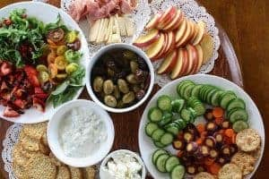Healthy dishes on the table