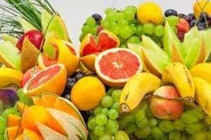 Citrus fruits, grapes and bananas