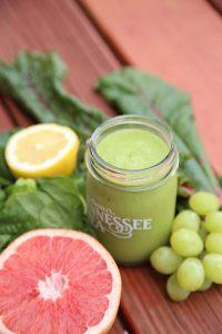 Green smoothie grapefruit grape and lemon