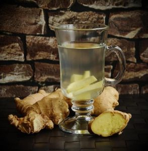 herbal infusion with ginger