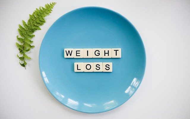 Weight Loss writing on your plate