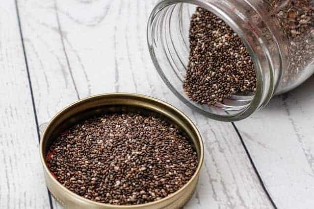 chia seeds in a jar