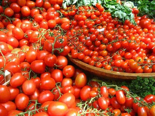 plenty of tomatoes on the bowls