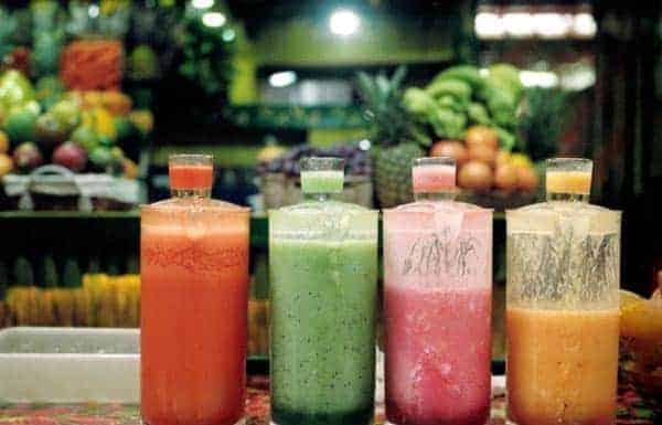 Vegetable cocktails in bottles