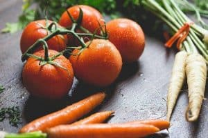 tomatoes, carrots and parsley