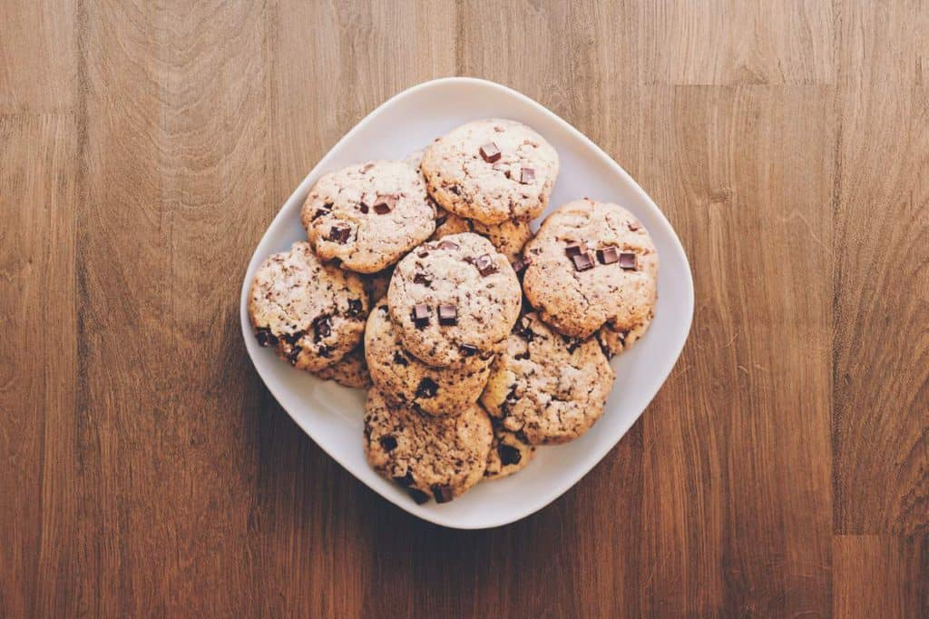 Oatmeal cookies in a bowl