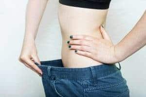 a woman with a slim waist