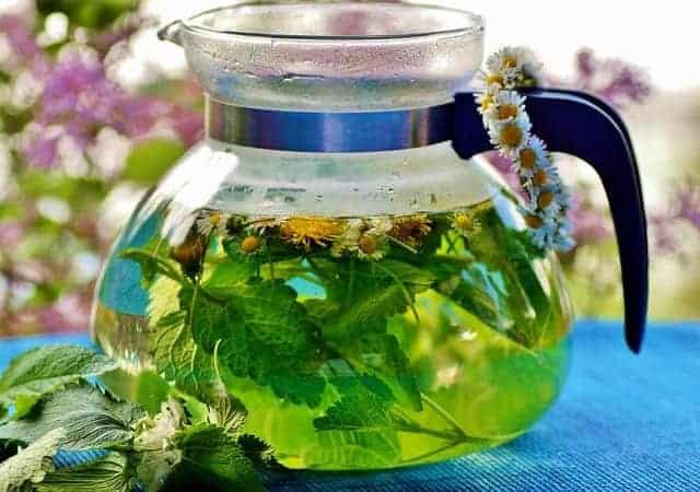 herbal tea in a pot
