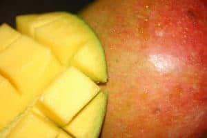 Sliced African mango