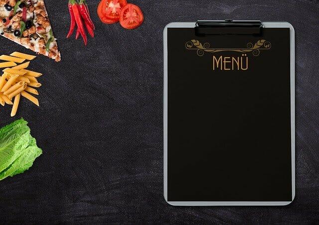 foods and menu card