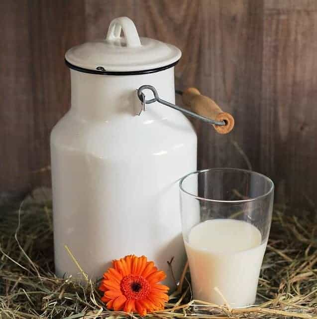 a can and a glass of milk