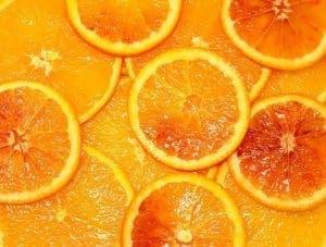 Slices of bitter orange