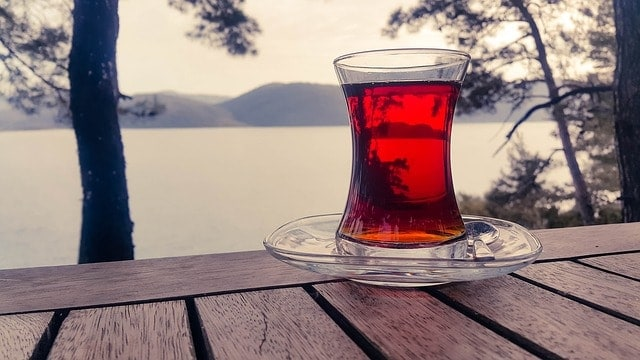 A glass of red tea