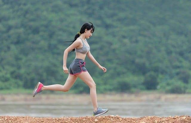 running woman, physical activity