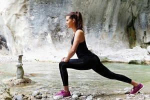 woman exercises