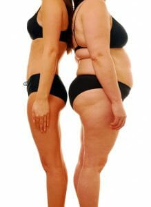 slim vs. obese, weight loss