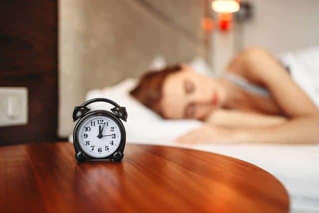 woman during sleep