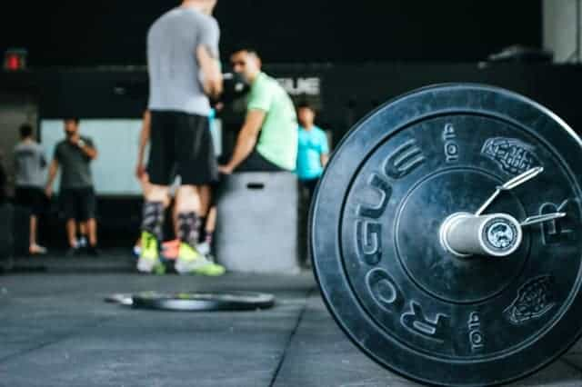 barbell on the gym floor