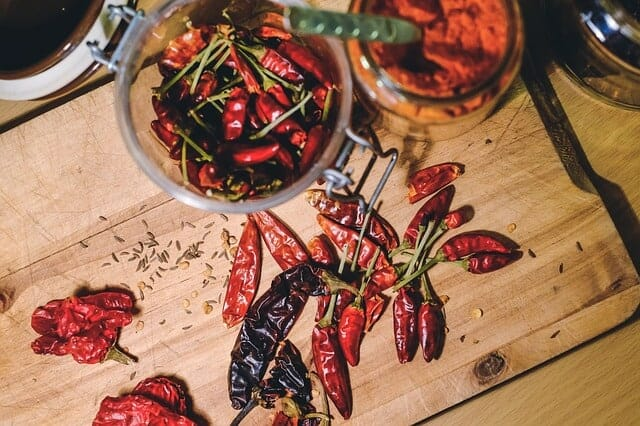 Thermogenics, chili peppers