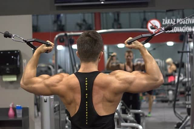 male trainer at the gym
