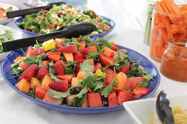 fruit salad on a plate