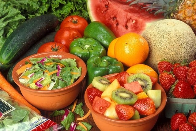 A varicose vein diet - fruits and vegetables