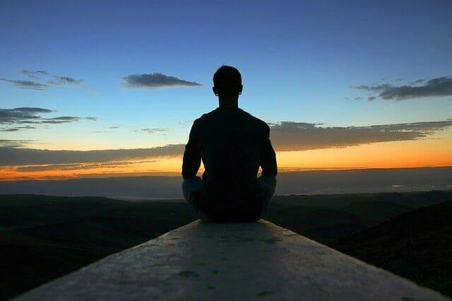 The meditating man