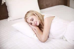 a sleeping woman