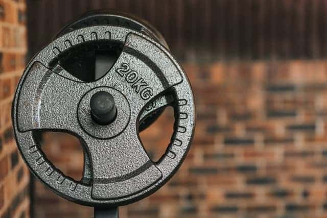 barbell and plate
