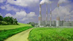 Smoky factory chimneys