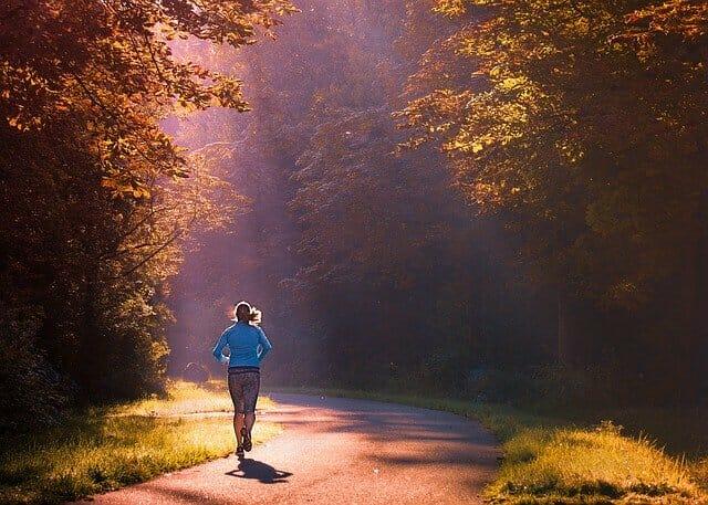 runner, jogging in the park