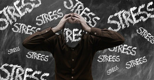 Stressed person